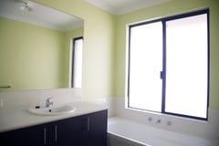 Green bathroom Stock Photos