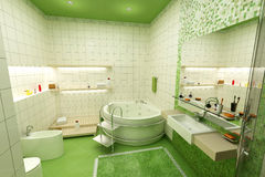 Green bathroom Stock Photo