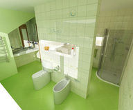 Green bathroom Stock Photography