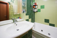 Green bathroom Royalty Free Stock Photography