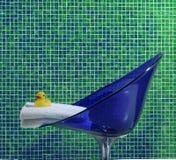 green bathroom closeup stock photography