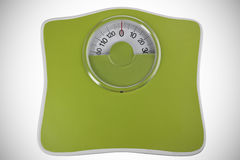 Green bathroom scale Royalty Free Stock Photos