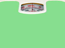 Green bathroom scale Stock Images