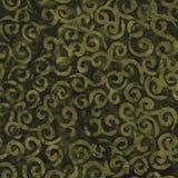 Green Batik Pattern Royalty Free Stock Photography