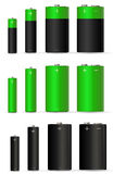 Green battery Royalty Free Stock Images
