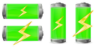 Green battery Stock Photo