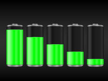 Green battery Stock Photos