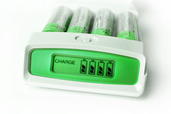 Green battery charger Royalty Free Stock Photography