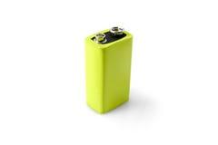 Green battery clean energy Stock Photos