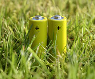 Green battery Stock Photography