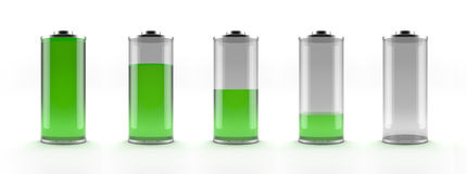 Green battery status Stock Image