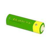 Green battery - vector illustration. Royalty Free Stock Images