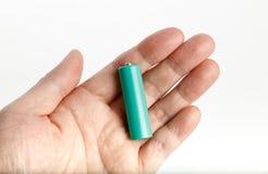 Green battery Stock Photo