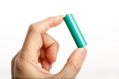 Green battery Royalty Free Stock Image