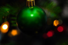 Green bauble Royalty Free Stock Images