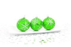 Green bauble decoration Stock Images
