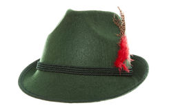 Green bavarian hat Stock Images