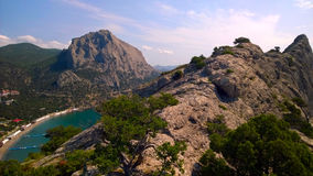 Green Bay della località di soggiorno il Novyj Svet (Crimea) Fotografia Stock Libera da Diritti