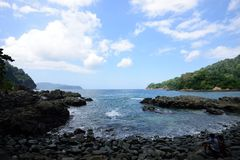 Green Bay near Sukamade Beach, Indonesia Royalty Free Stock Photography