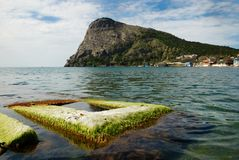 Green bay of Noviy Svet on the Crimean coast. Stock Photo