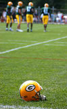 Green Bay Packers Helmet. Scene during Green Bay Packers training camp and practice royalty free stock photography