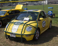 2002 Green Bay Packers VW Beetle Side View Stock Photos