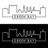 Green Bay skyline. Linear style. Editable vector file Royalty Free Stock Image