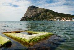 Green Bay von Noviy Svet auf der Krimküste. Stockfoto