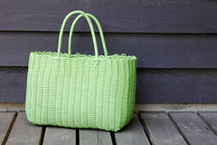 Green beach bag Stock Image
