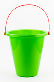 Green beach bucket Stock Images
