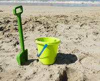 Green beach toys Stock Images