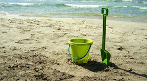 Green beach toys Royalty Free Stock Photo