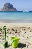 Green beach toys Royalty Free Stock Photography