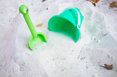 Green beach toys Royalty Free Stock Photography