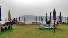 Green beach at Ubolrat reservior Stock Photography