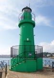 Green beacon Stock Image