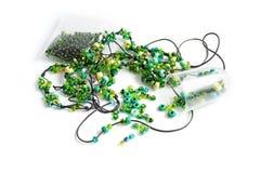 Green beads Stock Photos