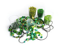 Green beads Stock Image