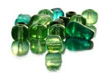 Green beads Stock Image