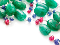 Green beads chain Stock Photo
