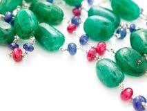 Green beads chain Stock Photo