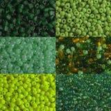 Green beads macro Stock Images