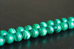 Green beads from a stone Royalty Free Stock Photography