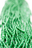 Green beads Stock Images