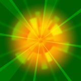 Green Beams Background Shows Shining And Rays Stock Image
