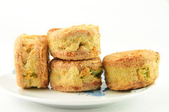 Green bean cake Stock Photo