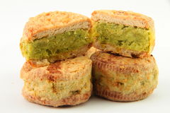 Green bean cake Stock Images
