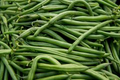 Green bean. Detail of a large number of green bean royalty free stock photo