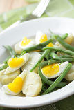 Green bean, egg and potato salad Royalty Free Stock Image