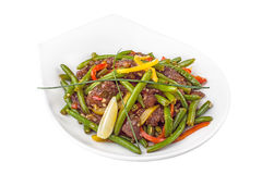 Green bean meat salad Royalty Free Stock Photos